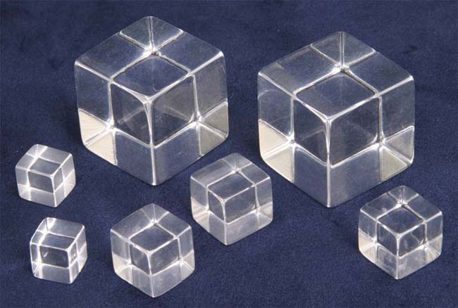 Solid ACRYLIC CUBES - CLEAR